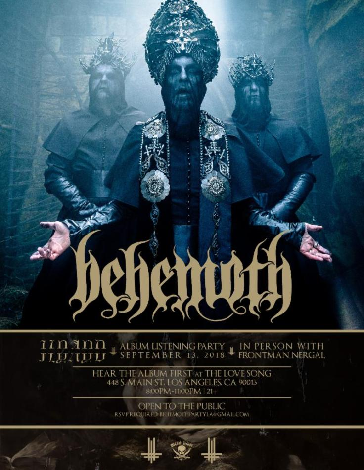 Behemoth - LA listening party
