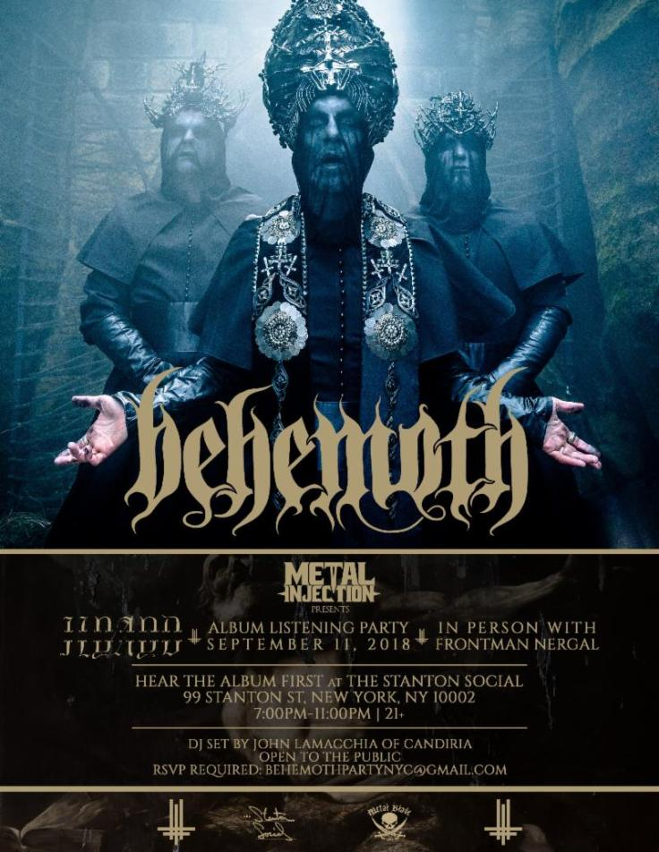 Behemoth NYC flyer